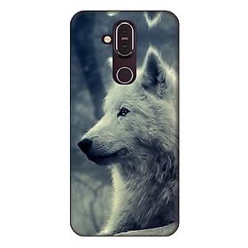 Ốp lưng dành cho điện thoại Nokia 8.1 Chó Sói Mẫu 1