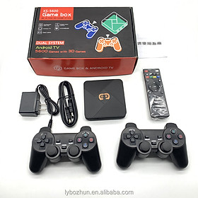 Máy chơi game điện tử 4 nút hdmi tích hợp Tivi Box hỗ trợ tải game lưu game xem TV miễn phí với 5600 games  tay cầm joystick Hỗ trợ phân giải lên 4k HDR Hỗ trợ kết nối thẻ nhớ