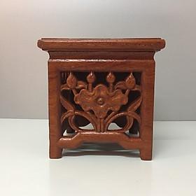 Đôn kê tượng gỗ hương, đế kê tượng gỗ  , đôn cao chân đèn , kê vật phong thuỷ