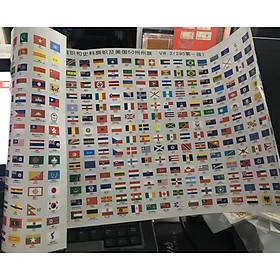 Bộ Quốc kỳ của tất cả các nước trên thế giới 295 quốc gia, răng cưa xé dễ dàng