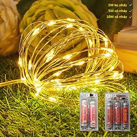 Đèn đom đóm dùng pin tiểu DEHA dây led cao cấp trang trí phòng, cắm trại.
