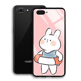 Ốp Lưng Kính Cường Lực cho điện thoại Realme C1 - 03040 7903 RABBIT01 - Hàng Chính Hãng