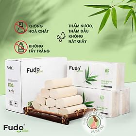 Khăn giấy tre Fudo - Combo 30 Cuộn Giấy Vệ Sinh Không Lõi (1 thùng): 100% bột tre, không tạo mùi, không tẩy trắng, siêu mềm, siêu mịn, siêu dai