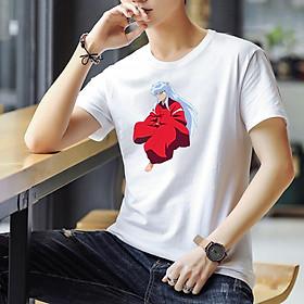 Áo Thun Nam Cực Hot - Chất Cotton - Dáng Body Thời Trang Hàn Quốc Giá Rẻ Cực Đẹp Kiểu Dáng Năng Động Cá Tính Siêu Hot Phù Hợp Đi Làm, Đi Chơi ANM-106 Inuyasha