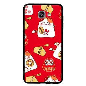 Hình đại diện sản phẩm Ốp Lưng Viền TPU cho điện thoại Samsung Galaxy A9 Pro - Mèo May Mắn 05