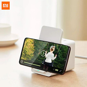 Xiaomi Vertical Wireless Charging Socket 3 USB Ports Outlet Support 18W Fast Chaging New National Standard Combination Jack Phone Holder Safe Durable Plug Socket For Home Office