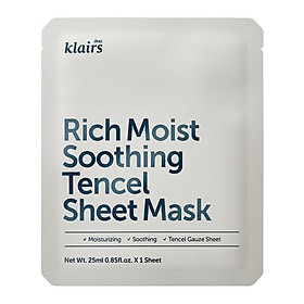 Mặt nạ Dear, Klairs Rich Moist Soothing Tencel Sheet Mask