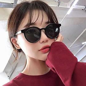 Kính mát chữ V nam nữ gọng tròn mắt mèo phong cách Hàn Quốc bảo vệ mắt chống tia UV
