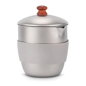 Lixada 300ml Outdoor Camping Titanium Teapot Kettle Tea Maker with Infuser