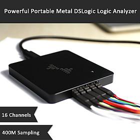 Powerful Portable Metal DSLogic Logic Analyzer 16 Channels 400MHz Sampling USB-based Debugging Logic Analyzer