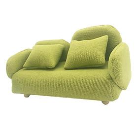 1/12 Scale Dollhouse Miniature Furniture Mini Sofa Couch Decor Toy Orange