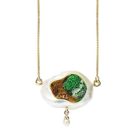 Dây Chuyền Galatea Jewelry Pearltanical Garden PL-107 - Trắng
