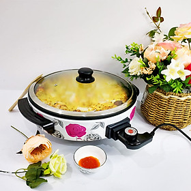 NỒI ĐIỆN ĐA NĂNG - Nướng chín thực phẩm, Làm PIZZA, có thể dùng để xào nấu thức ăn, tiết kiệm điện năng