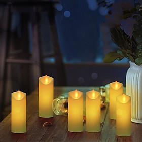 Đèn LED Nến điện tử rực lửa Nến Φ5.3CM Pin hoạt động cho tiệc cưới Lễ hội sinh nhật Bữa tối lãng mạn Trang trí