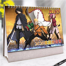 (Lịch 2020) Lịch Naruto in ảnh đẹp anime chibi idols lịch để bàn tặng ảnh thiết kế Vcone