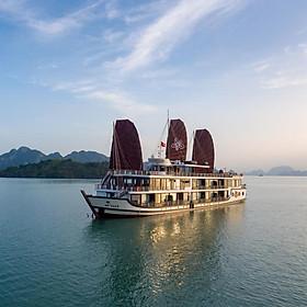 Du Thuyền 5 Sao Azalea Cruises Sang Trọng, Đẳng Cấp - Tour Du Lịch 2 Ngày 1 Đêm Ngủ Đêm Trên Thuyền Tại Vịnh Hạ Long (Trải Nghiệm Chèo Thuyền Kayak)