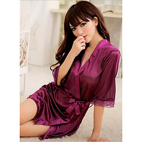 Áo choàng ngủ sexy kèm quần lọt khe AO03 (tặng 1 mặt nạ cô nàng bí ẩn), Đầm ngủ cosplay gợi cảm, Freesize