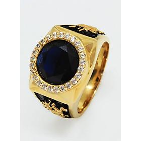 Nhẫn nam vàng 18k đá màu 07