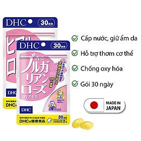 Combo LUÔN LUÔN TƯƠI MỚI DHC Nhật Bản (Viên cấp nước và viên hoa hồng thơm cơ thể ) thực phẩm chức năng làm đẹp da, chống oxy hóa, cơ thể thơm mát gói 30 ngày JN-DHC-CB5