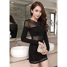 Hình đại diện sản phẩm Váy Nữ Ngắn Tay Dài Sexy Night Noir