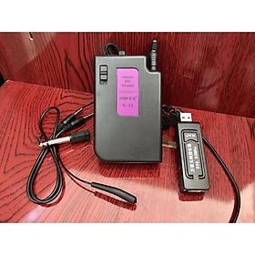 Mic không dây V11 NHỎ GỌN dòng mic đa năng phù hợp tất cả loa kéo và âm ly có hỗ trợ mic- Hàng Chính Hãng