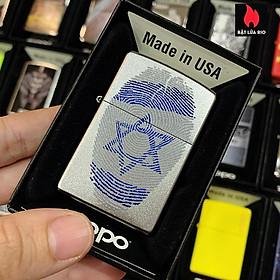 Bật Lửa Zippo 205 Israel Fingerprint Satin