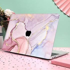 Case ốp nhựa ABS bảo vệ macbook đủ dòng siêu mỏng nhẹ không nóng máy hoạ tiết vân đá cẩm thạch màu hồng