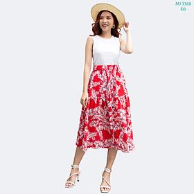 Chân Váy Xòe 42-60 kg MEEJENA Váy Xòe Nữ Vải Đũi Hoa - 3368