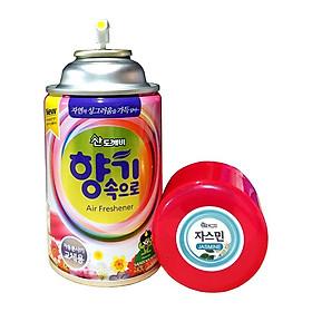 Bình Xịt Thơm Phòng Khử Mùi Hàn Quốc cao cấp Hương Hoa Nhài 300ml cho ô tô
