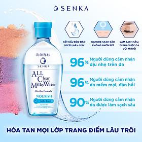 Nước Sữa Tẩy Trang 2 lớp SENKA A.L.L. CLEAR MILKY WATER 230ML
