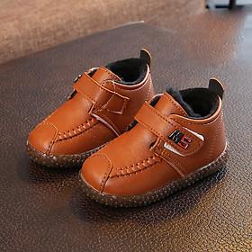 Giày bốt cổ cao cho bé trai 1 - 3 tuổi chất mềm lót lông ấm áp GE39