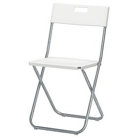 Ghế gấp màu trắng GUNDE Folding chair white IKEA