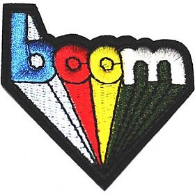 Patch ủi sticker vải - Boom