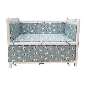 Phụ kiện cũi cho bé - Bộ quây cũi 4 tấm và ga vải bọc đệm cũi cho bé