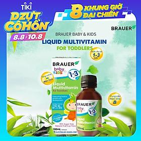 Vitamin tổng hợp Brauer Baby & Kids Liquid Multivitamin For Toddler cho trẻ 1-3 tuổi (45ml)