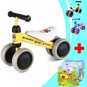 Xe chòi chân 4 bánh tự cân bằng giúp bé giữ thăng bằng cho bé tập đi - siêu dễ thương (TẶNG KÈM BẢNG GHÉP TRANH 9 MẢNH CHO BÉ - CHỦ ĐỀ NGẪU NHIÊN), xe chòi chân mini 4 bánh cho bé, xe chòi chân, xe chòi chân cho bé