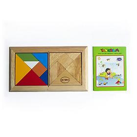Đồ chơi gỗ Winwintoys - Tangram cho bé phát triển trí tuệ có sách hướng dẫn