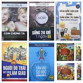 Bộ sách 5 cuốn nuôi dạy con:Tìm hiểu con chúng ta + cách biến con bạn thành thần đồng tài chính + bí mật ngời do thái dạy con làm giàu + săn sóc sự học của các con + sống 24 giờ một ngày tặng truyện song ngữ bìa mềm ngẫu nhiên