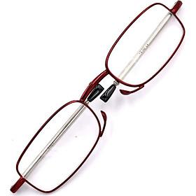 Kính lão gọng xếp 868 màu đỏ tròng lão 3.5 độ_nữ