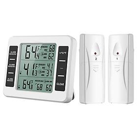 Thiết bị đo nhiệt độ, độ ẩm từ xa cao cấp không dây hiển thị nhiệt độ trong nhà và ngoài trời ( Tặng kèm nhiệt ẩm kế mini ngẫu nhiên )