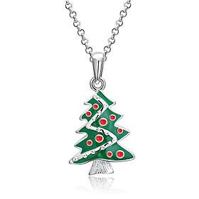 Zircon Christmas Necklace Sock Shape Necklace
