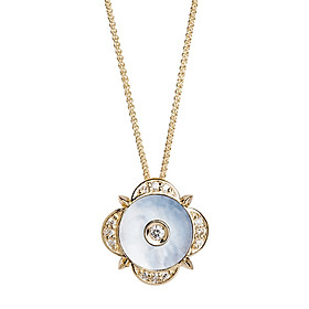 Dây Chuyền Galatea Jewelry Momento Talking Pearl MG-09Y - Trắng