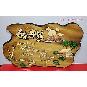 Tranh gỗ ghép thư pháp chữ GIA ĐÌNH