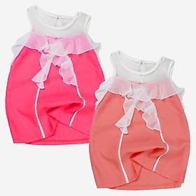 Đầm voan cát cộc tay cho bé gái 1-6 tuổi 10 đến 22 kg 01374-01375