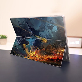 Skin dán hình rồng cho Surface Go, Pro 2, Pro 3, Pro 4, Pro 5, Pro 6, Pro 7, Pro X