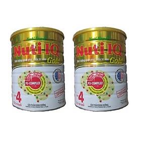 Bộ 2 Lon Sữa Bột Nutifood Nuti IQ Gold Step 4 (Từ 2 - 6 tuổi) - 1.5kg
