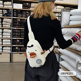 Túi đeo chéo họa tiết vịt cực đáng yêu-3