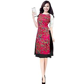 Áo dài nữ kèm chân váy phối ren tay