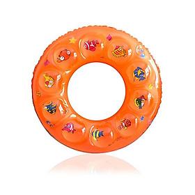 Phao bơi cho bé (Từ 6-10 tuổi) phao 2 LỚP - size 70, phao bơi tròn PVC - POKI