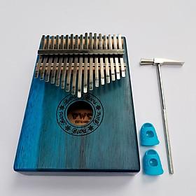 Đàn Kalimba gỗ BWS 17 phím chuẩn thumb piano kèm đủ phụ kiện (Búa chỉnh âm, dán nốt, túi đựng, sách hướng dẫn) BWS-17 Kèm kèn Kazoo + Bọc ngón tay